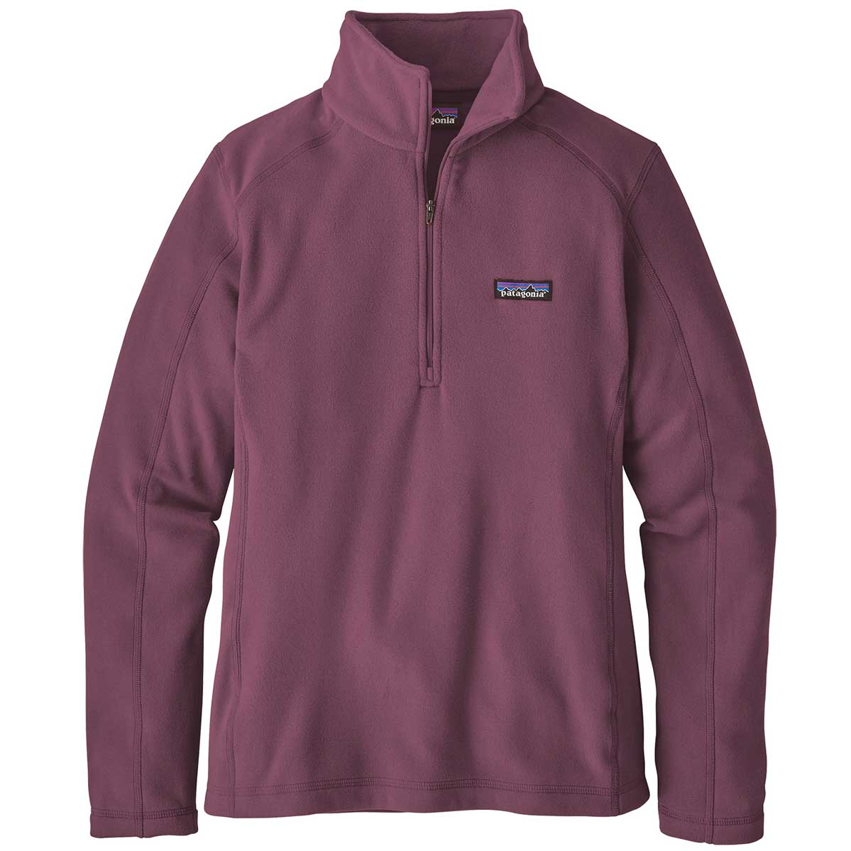 Patagonia women's Micro D 1/4 Zip Top in Light Balsamic front view